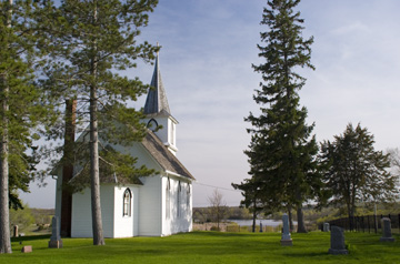 Historic Christdala Church built in 1877 by Swedish Immigrants